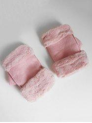 Vintage Solid Color Fuzzy Winter Gloves -