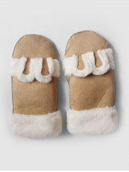 Cute Solid Color Fuzzy Mitten Gloves -