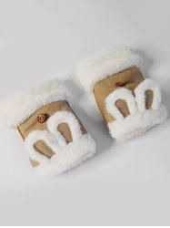 Cute Rabbie Ear Fingerless Winter Gloves -