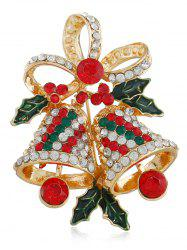 Rhinestone Christmas Bell Party Brooch -