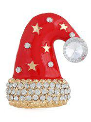 Rhinestone Christmas Hat Brooch -