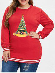 Sweat-shirt Universitaire Rayé Sapin De Noël -