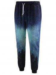 Drawstring Waist Tree Print Jogger Pants -