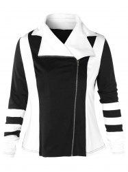 Plus Size Two Tone Jacket -
