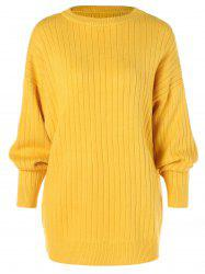 Dropped Shoulder Ribbed Knitwear -