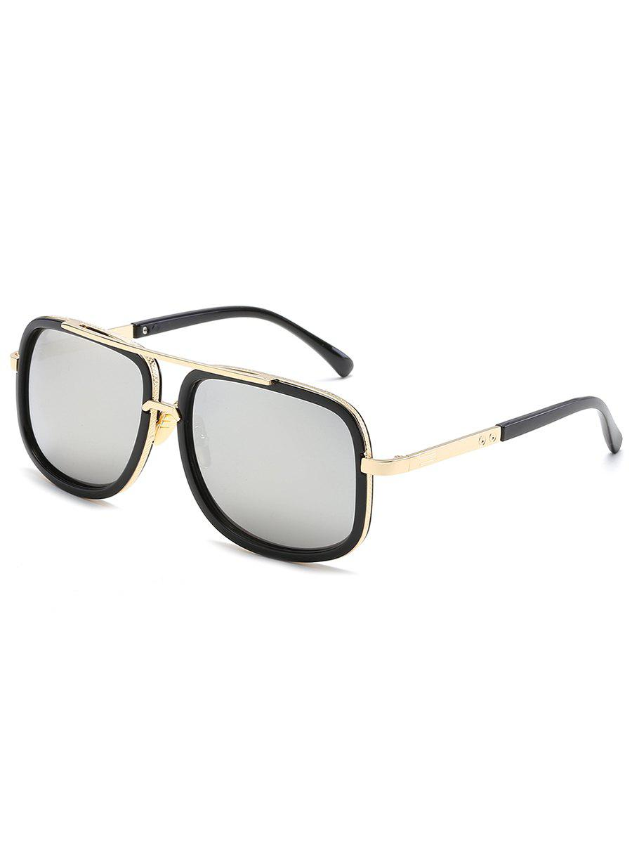 Shops Stylish Metal Frame Crossbar Driving Sunglasses