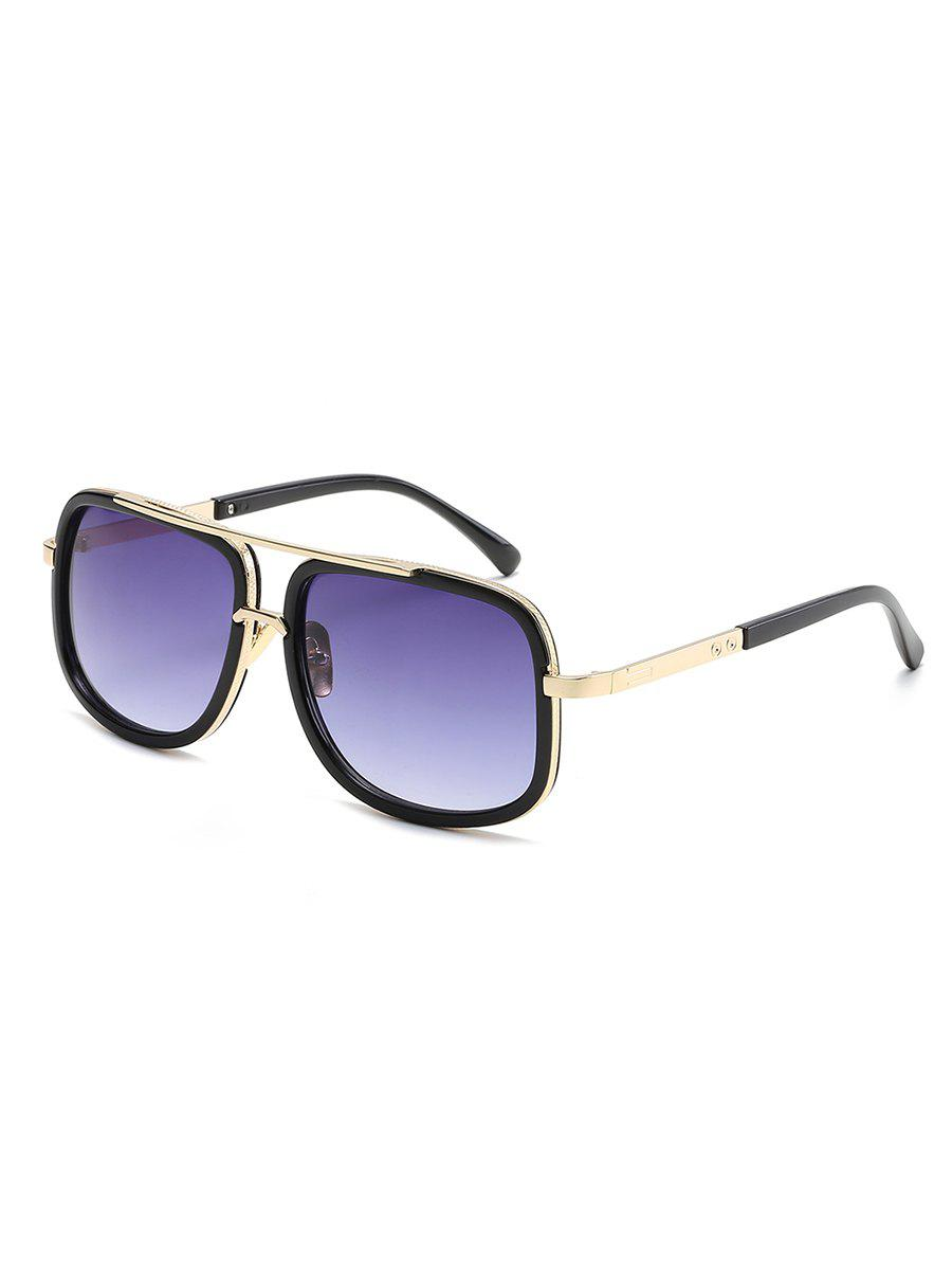 Outfit Stylish Metal Frame Crossbar Driving Sunglasses