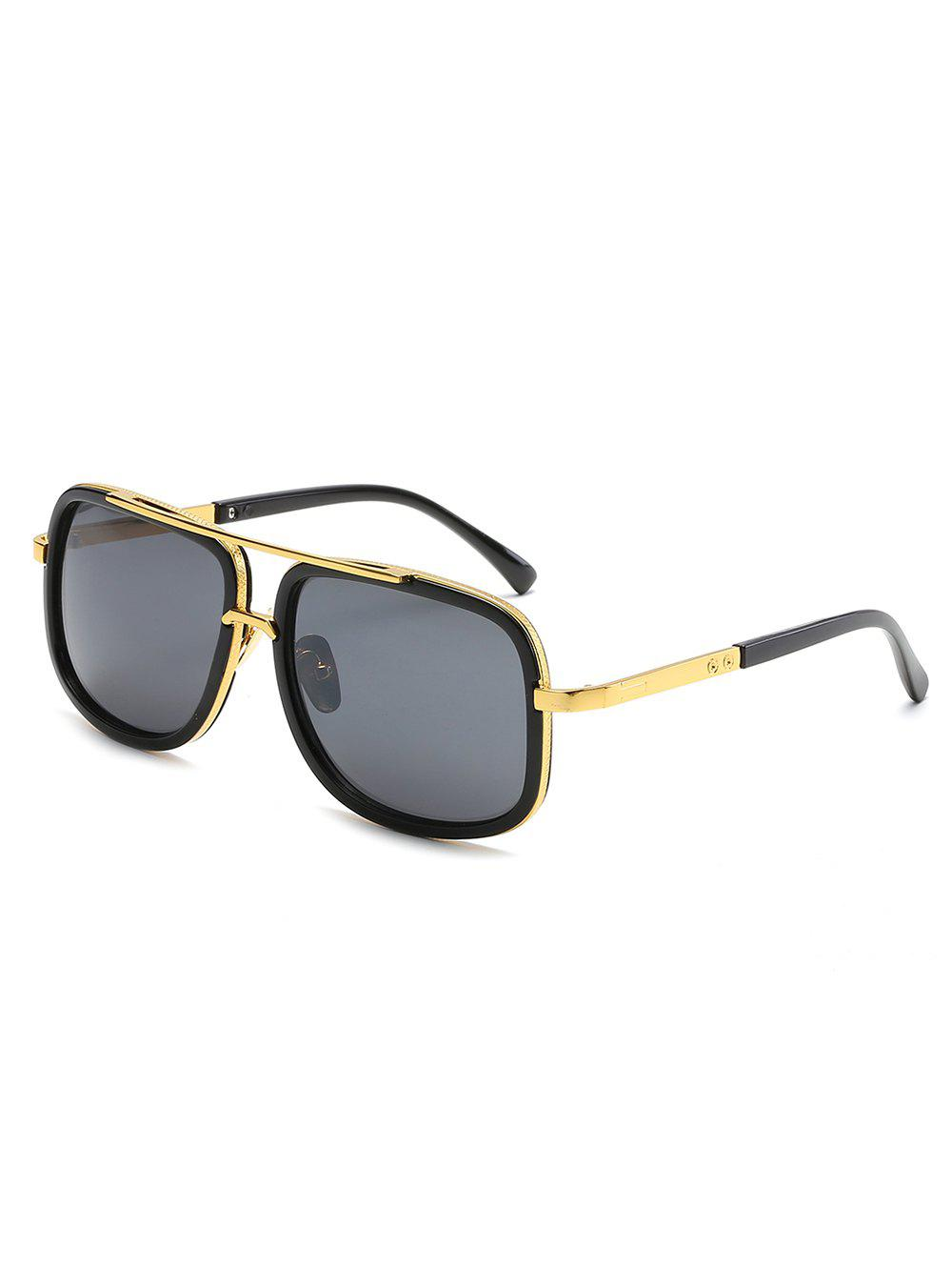 Unique Stylish Metal Frame Crossbar Driving Sunglasses
