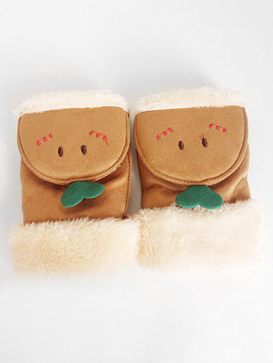 Affordable Cute Cartoon Flanging Fuzzy Gloves