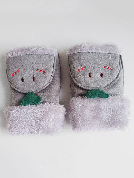 Hot Cute Cartoon Flanging Fuzzy Gloves