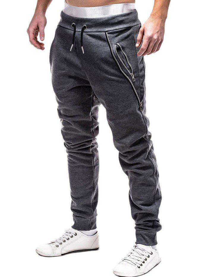 Store Zip Embellished Casual Sport Jogger Pants
