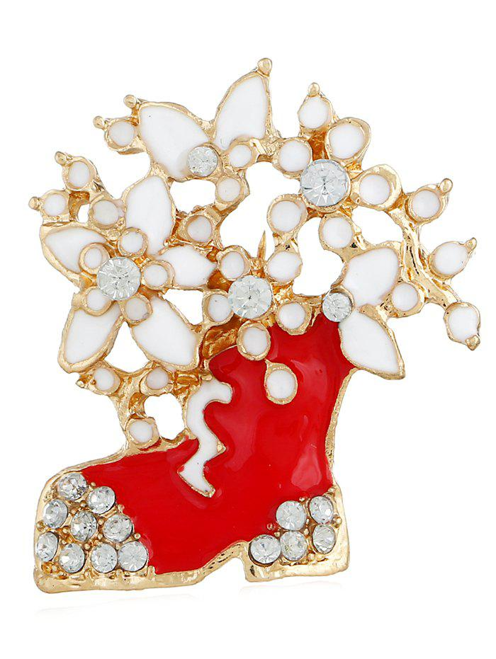 Store Rhinestone Floral Boots Party Brooch