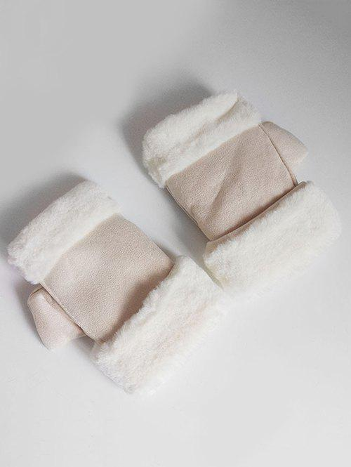 Hot Vintage Solid Color Fuzzy Winter Gloves