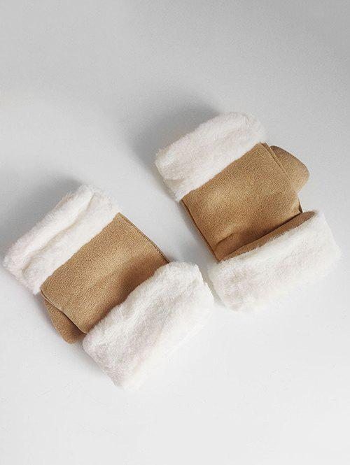 Cheap Vintage Solid Color Fuzzy Winter Gloves
