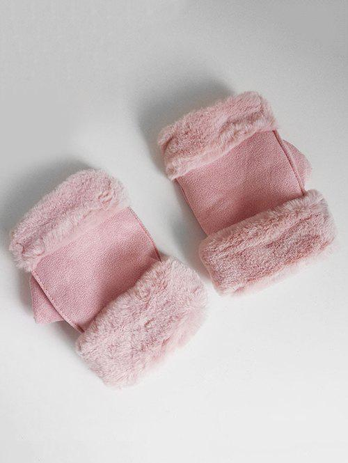 Outfits Vintage Solid Color Fuzzy Winter Gloves