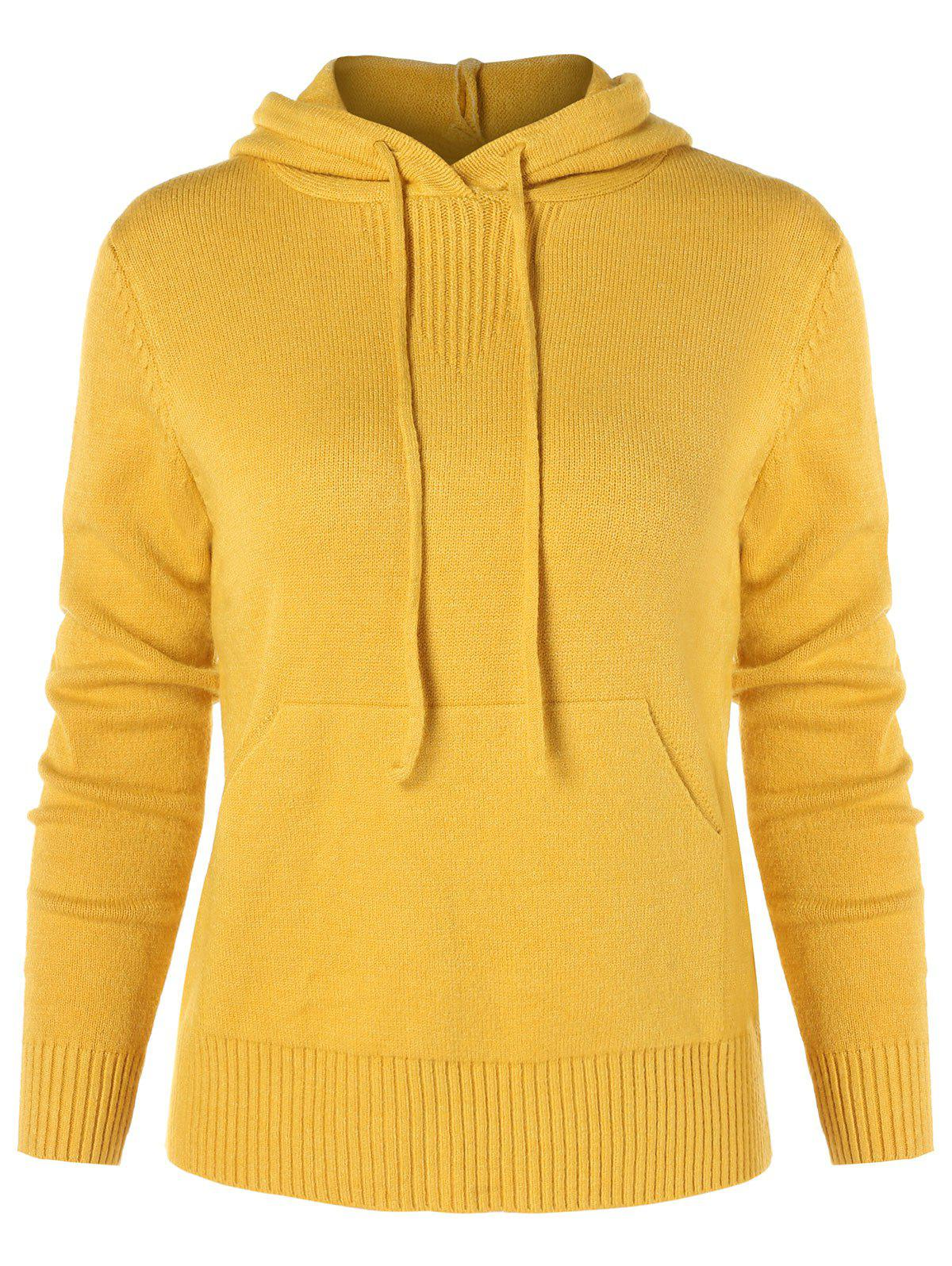 Discount Drawstring Knit Hoodie