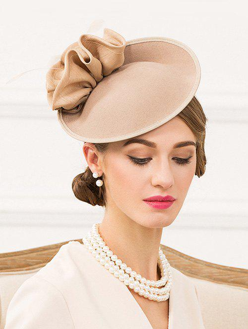 Chic Elegant Floral Solid Color Pillbox Hat