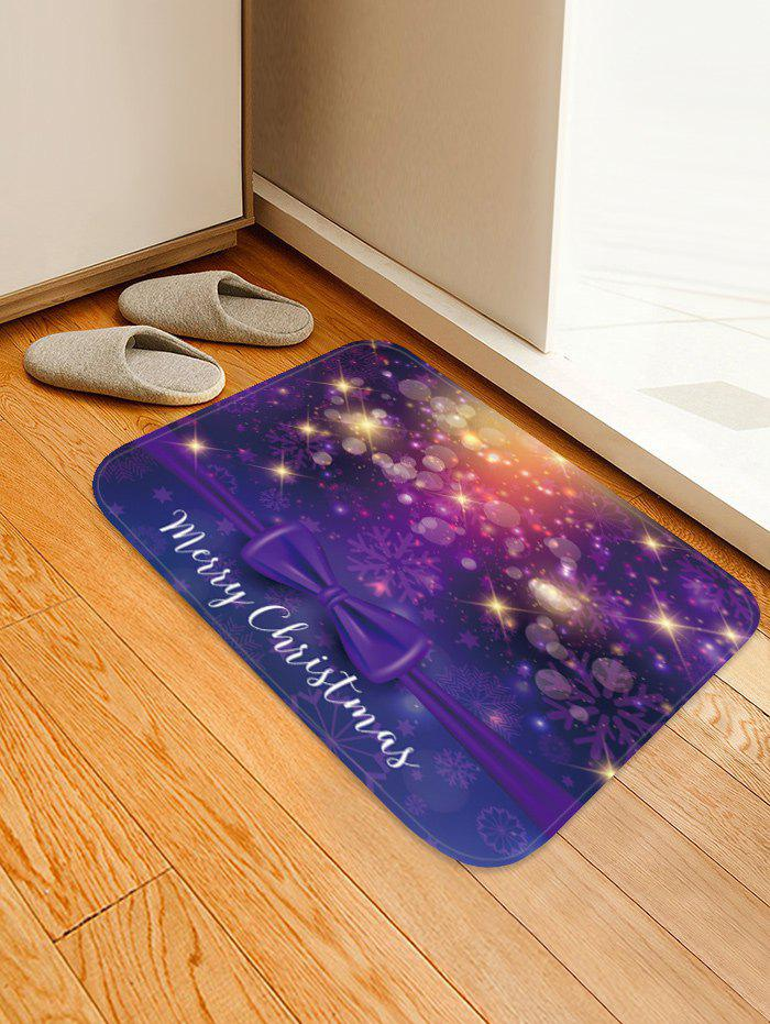 Hot Merry Christmas Bowknot Pattern Anti-skid Area Rug