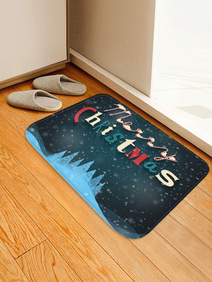 Affordable Merry Christmas Pattern Anti-skid Water Absorption Area Rug