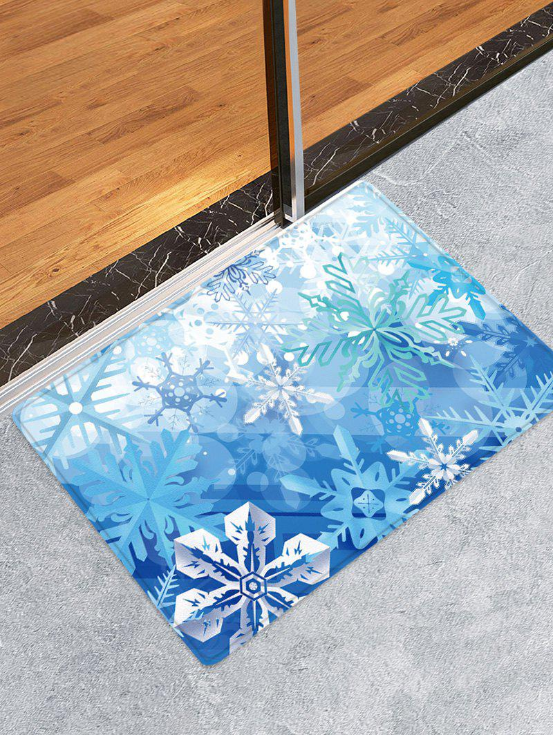 Cheap Christmas Snowflake Pattern Water Absorption Area Rug