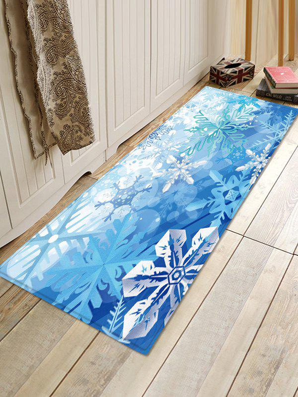 Fancy Christmas Snowflake Pattern Water Absorption Area Rug