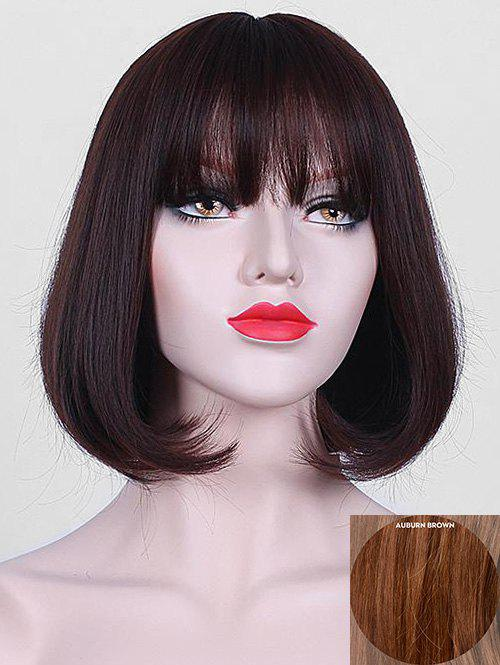 Hot Short Full Bang Party Straight Bob Human Hair Wig
