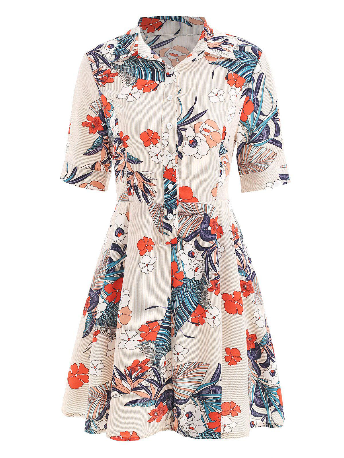 Buy Tie Knot Floral Print Dress