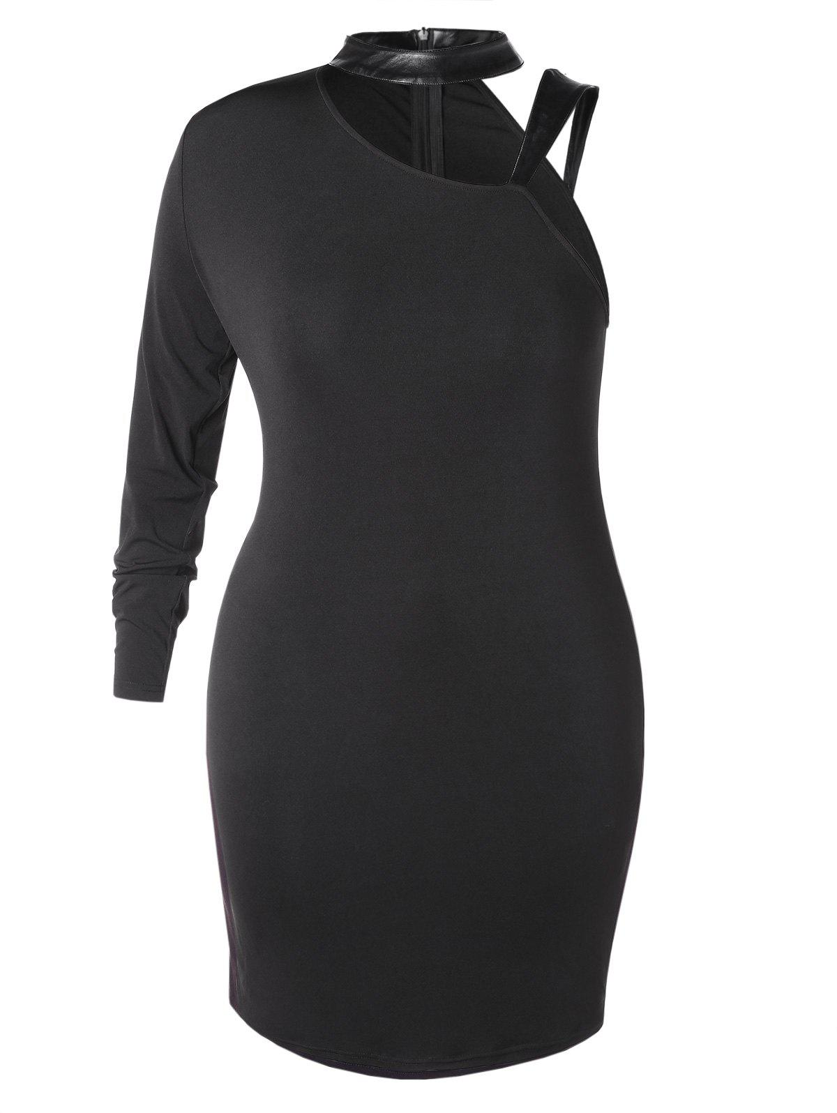 Sale Plus Size One Shoulder Bodycon Dress