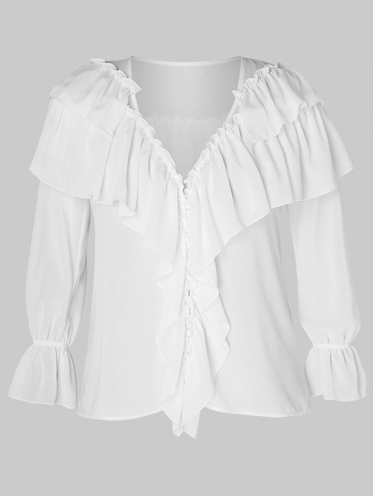 Trendy Plus Size Ruffled Overlay Top