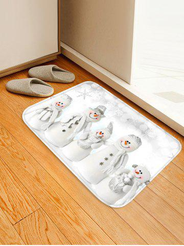 Christmas Snowmen Family Pattern Anti-skid Area Rug