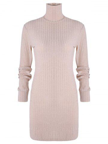 Long Sleeve Ribbed Turtleneck Sweater