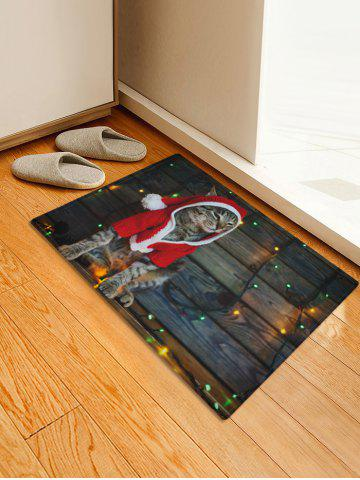 Christmas Cat Pattern Home Decor Area Rug