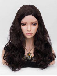 Long Side Parting Wavy Party Heat Resistant Synthetic Wig -