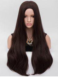 Middle Part Long Natural Straight Party Synthetic Wig -