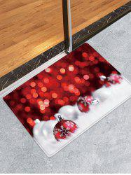 Christmas Balls Dots Pattern Anti-skid Water Absorption Area Rug -