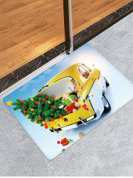 Christmas Tree Car Pattern Anti-skid Water Absorption Area Rug -