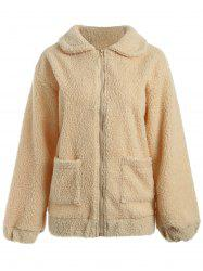 Sherpa Fleece Pockets Coat -