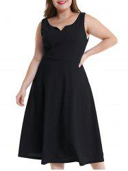 Plus Size Midi Flare Dress -