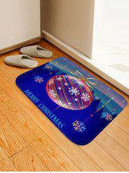 Christmas Ball Forest Pattern Water Absorption Area Rug -
