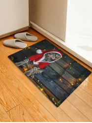 Christmas Cat Pattern Home Decor Area Rug -