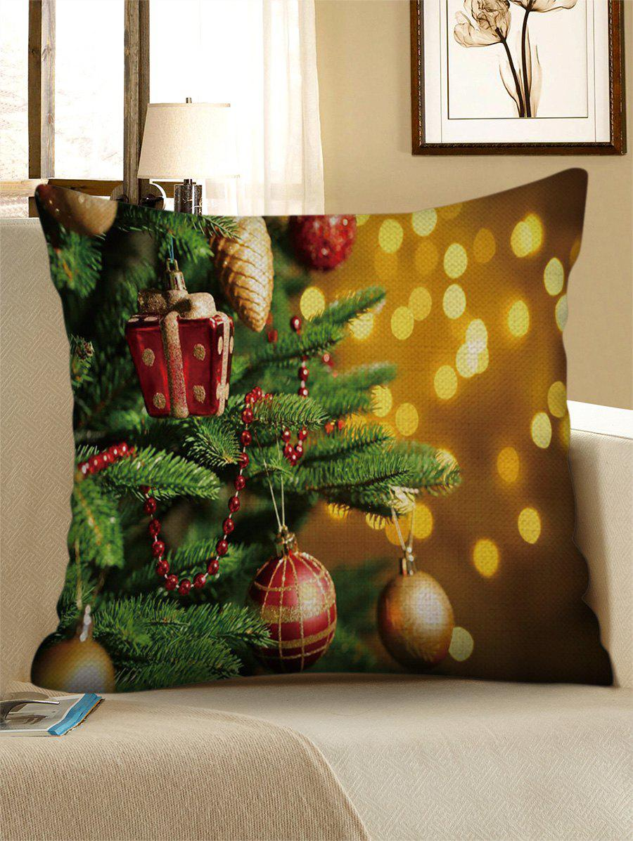 Cheap Christmas Tree Balls Print Decorative Sofa Linen Pillowcase