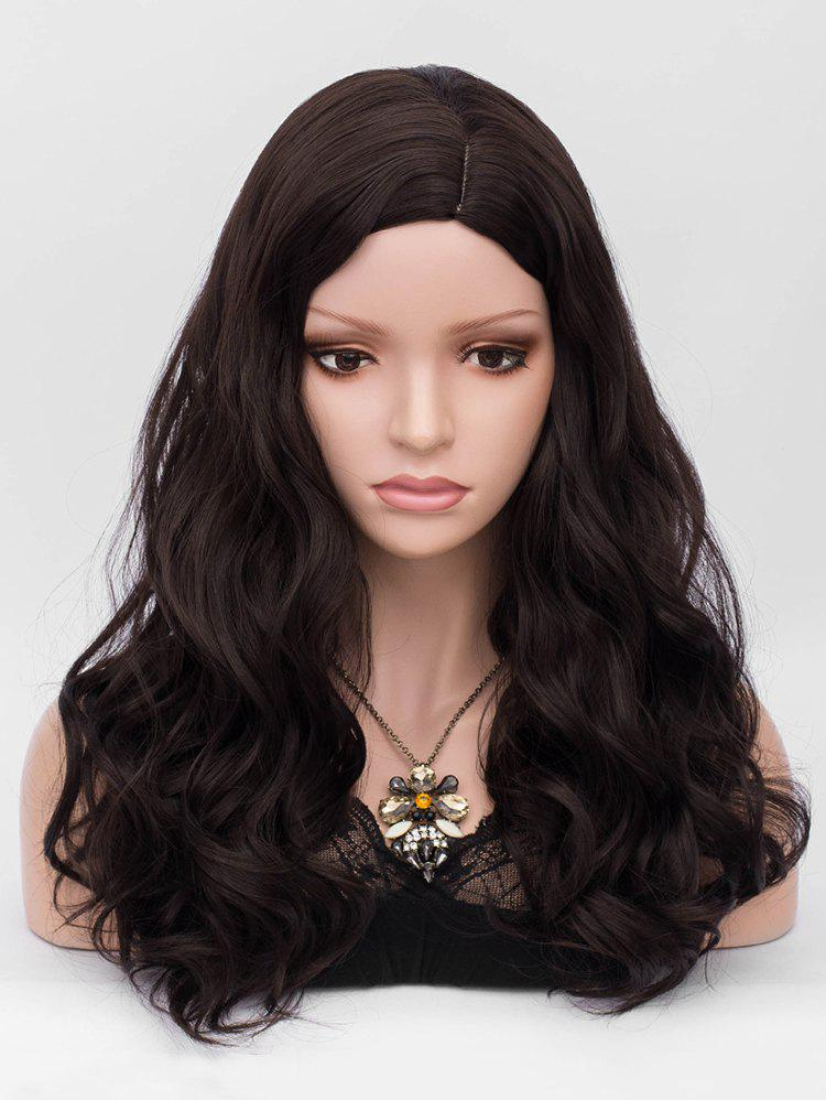 Online Long Side Parting Wavy Party Heat Resistant Synthetic Wig