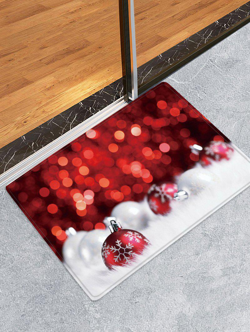 Fancy Christmas Balls Dots Pattern Anti-skid Water Absorption Area Rug