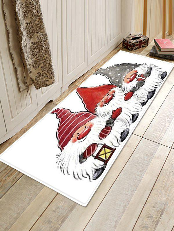 New Christmas Santa Claus Pattern Water Absorption Area Rug