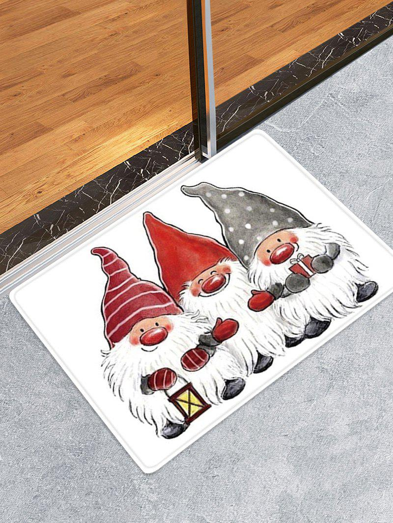 Online Christmas Santa Claus Pattern Water Absorption Area Rug