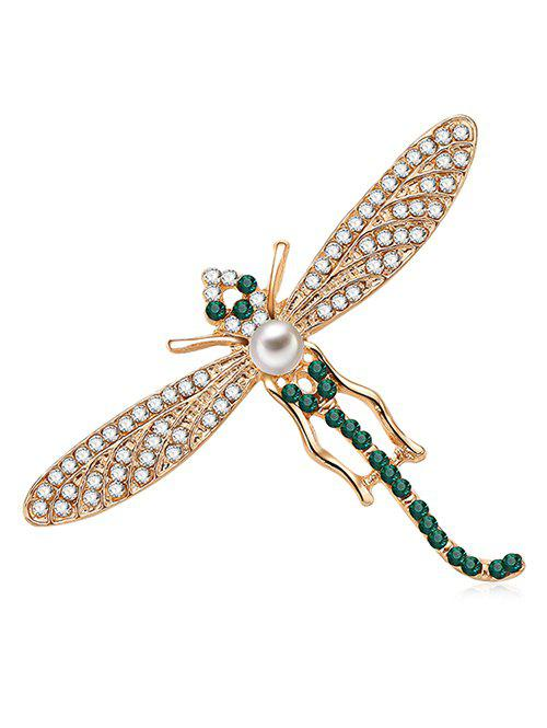 Fancy Dragonfly Design Artificial Crystal Brooch