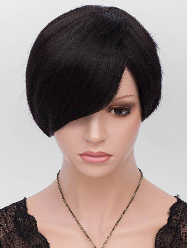 Outfits Inclined Fringe Short Straight Heat Resistant Synthetic Wig