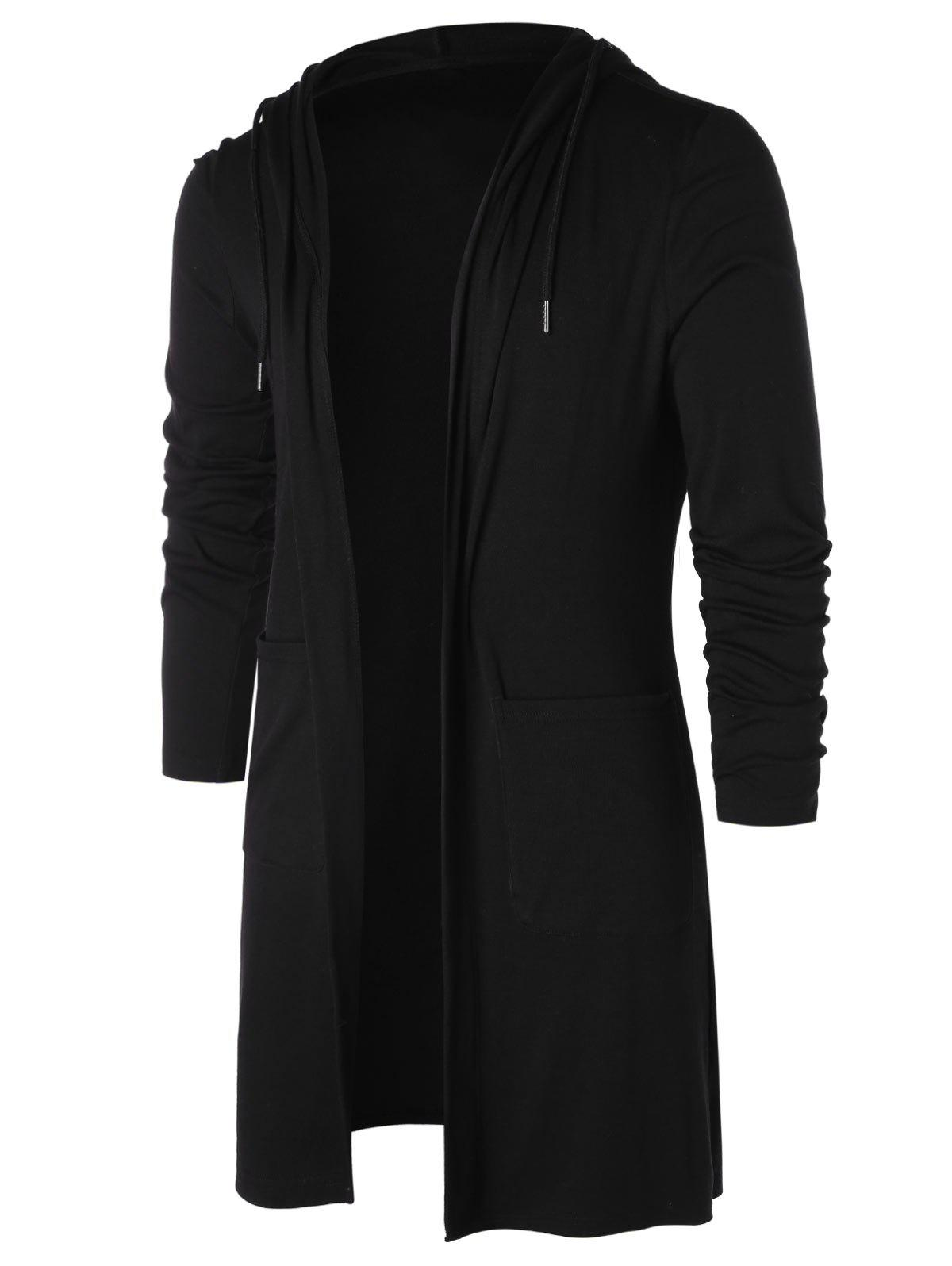 Store Longline Open Front Hooded Cardigan