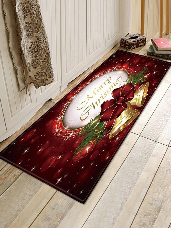 New Christmas Bowknot Bells Pattern Anti-skid Water Absorption Area Rug