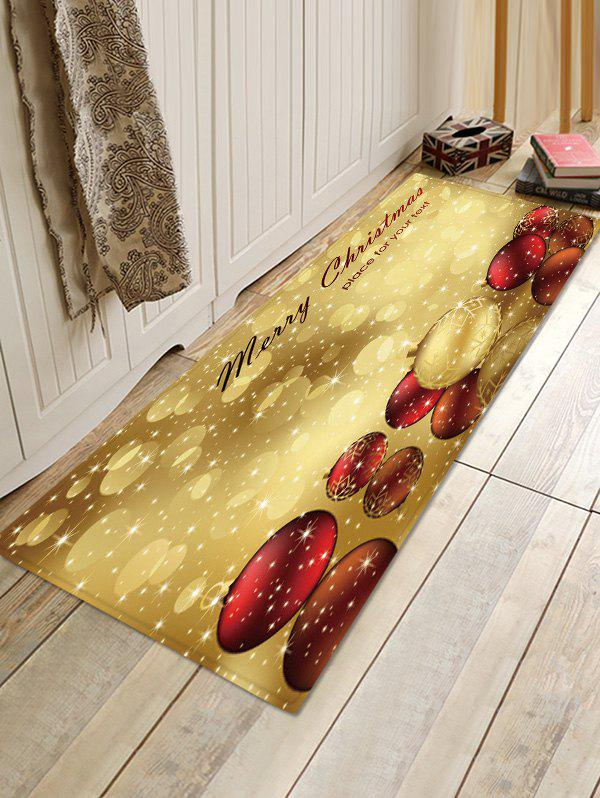 Unique Christmas Balls Pattern Water Absorption Floor Rug